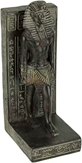 Things2Die4 Dark Brown Stone Finish Egyptian Pharaoh Bookend Statue