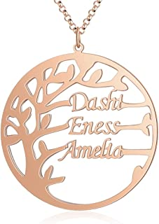 Best rose gold family tree necklace Reviews