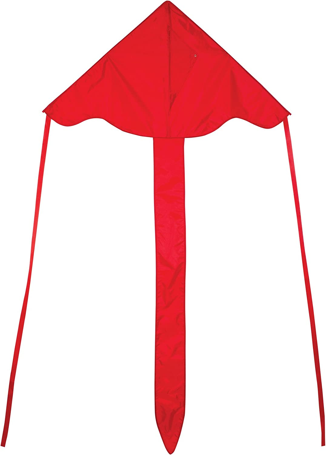 In the Breeze Red 43 Inch Fly-Hi Kite - Single Line - Ripstop Fabric - Includes Kite Line and Bag