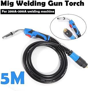 Welding Gun TBVECHI 16.5ft/5M Lead Length MB24 Mig Tool Welding Gun Mig Electric Welder Torch Stinger Weld Parts