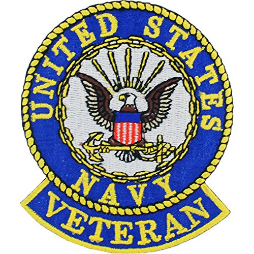 US Navy Veteran Round Logo Patch Military Gifts Patches for Jackets Hats Vests