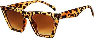 FEISEDY Vintage Gafas de Sol de Ojo de Gato Cuadradas Moda para Mujer Gafas de Sol Pequeñas de Ojo de Gato B2473