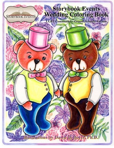A Storybook Event Wedding Coloring Book: Big Kids Coloring Book: LGBT Community – Groom Friendly Version (Big Kids Coloring Books)