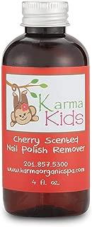 Karma Organic Kids Cherry Scented Nontoxic Natural Nail Polish Remover (4 fluid ounce)