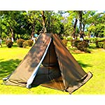 Outdoor Portable Waterproof Camping Pyramid Teepee Tent Pentagonal Adult Tipi Tent with Stove Hole 7