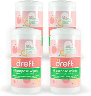 Dreft Multi-Surface All-Purpose Gentle Cleaning Wipes for Baby Toys, Car Seat, High Chair & More