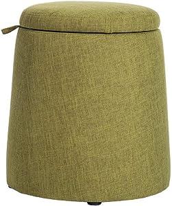 Fußhocker Polsterhocker Dall Lagerung Hocker Schuh Bench Polster- Sofa Hocker Makeup Hocker Moderner Minimalist Multifunktion (Farbe : Grün)