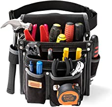 Heavy Duty Technician and Electrician's Waist Tool Bag with Multiple Pockets, Tool..