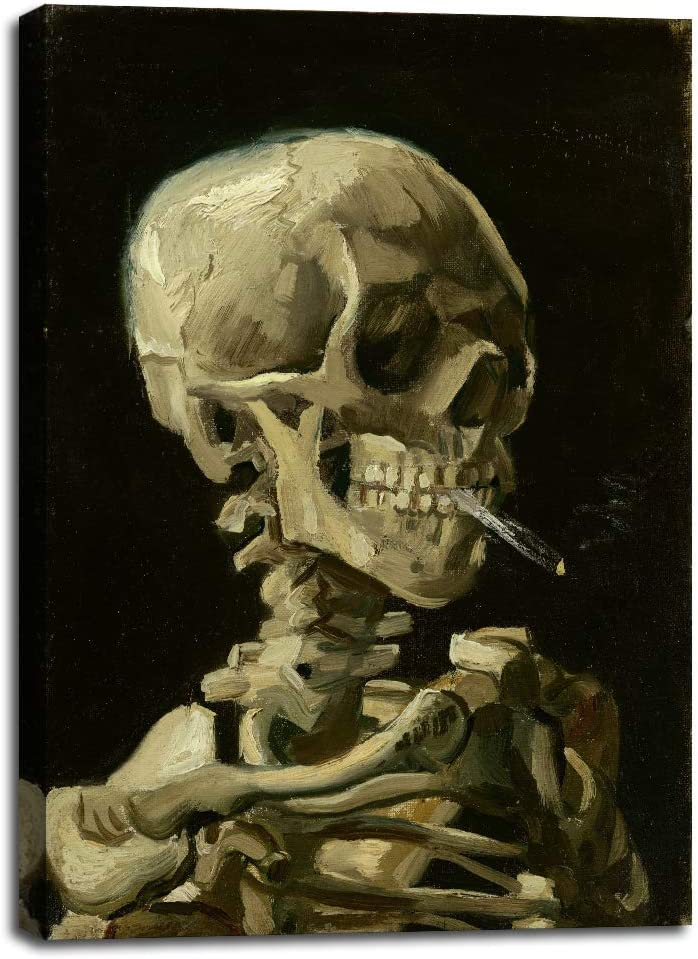 Skull Free shipping on posting reviews of a Skeleton with Burning Max 87% OFF Van Cigarette by Vincent 1886