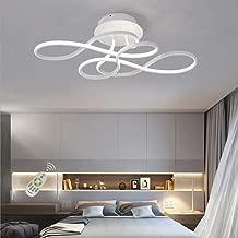 Lámpara de salón regulable con mando a distancia LED, lámpara de techo lámpara de comedor lámpara de mesa de comedor dormitorio lámpara de diseño moderno acrílico pasillo cocina decoración de techo