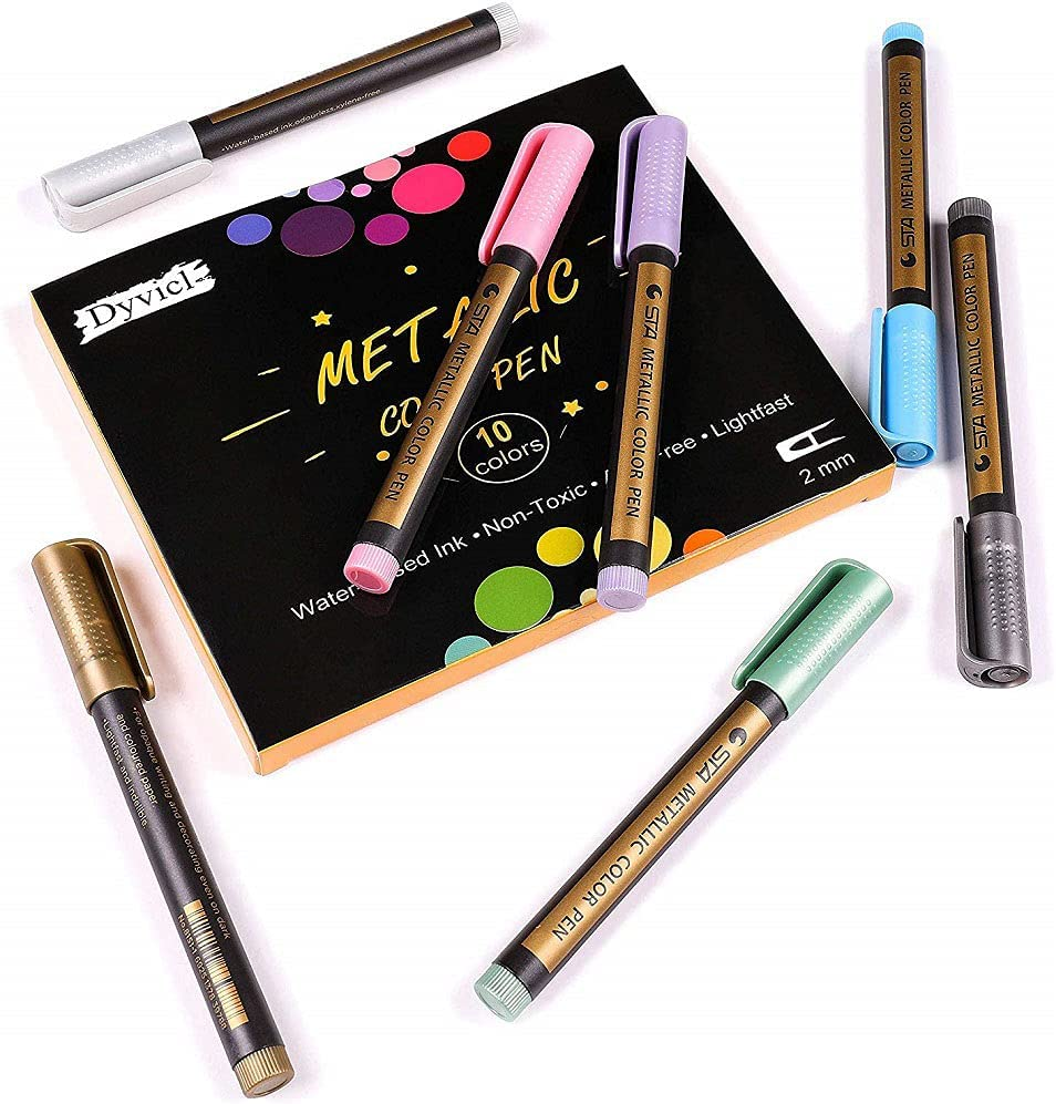 DWIN 10X Max 40% OFF Metallic Marker Pens Markers Paint Black Paper Outlet SALE for
