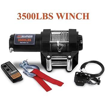 New 3500LB ATV Winch UTV 12V Electric 3500 LB Off Road Waterproof Kit