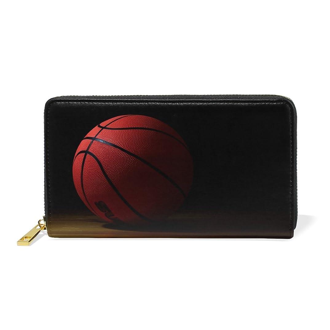 集める小石近所のAOMOKI 財布 長財布 本革 大容量 レディース ラウンドファスナー 通学 通勤 バスケットボール