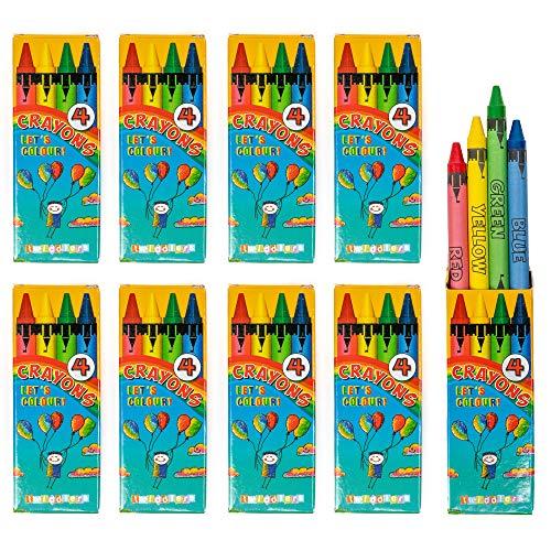 Bulk 50 Pakjes Waskrijt, elk met 4 Verschillende Kleuren per Pak - Ideaal Speelgoed voor Feestsouvenirs en Traktaties enz.