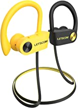 LETSCOM Bluetooth Headphones V5.0 with aptX-HD Stereo Sound, IPX7 Waterproof Running Headphones CVC 8.0 Call Noise Reducti...