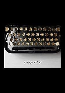 STORYTELLER: 7x10 wide ruled notebook : vintage typewriter : storytelling creative writing poetry journaling