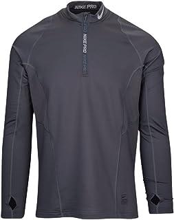cbc8a6eb0797 FREE Shipping. NIKE Men s Pro Hyperwarm Half Zip Pullover Athletic Sweatshirt  Dark Grey Wolf Grey