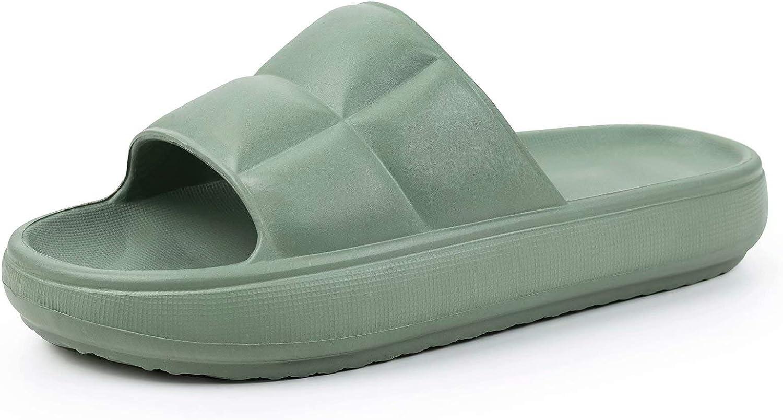 FITORY Women Slides Non-Slip Bath Shower Shoes Lightweight Pool Slippers Open Toe House Sandal Size 6-10.5