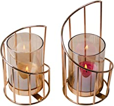 Candlesticks Golden Iron Candle Holder European Geometric Candlestick Romantic Crystal Candle Cup Home Decoration Table De...