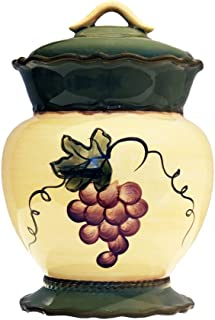 Tuscany Garden Collection, Ceramic Grape Cookie Jar, 84076 by ACK
