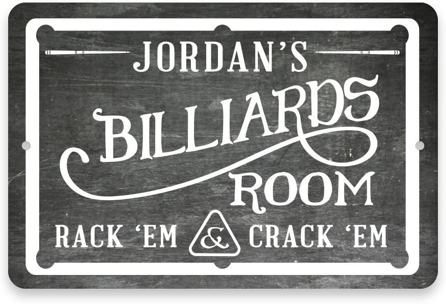 Max 54% OFF Pattern Pop Personalized Chalkboard Si Billiards Room Outlet sale feature Metal