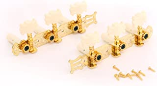 Musiclily 3 on A Plate Guitar Tuners Tuning keys Pegs Classical Guitar Machine Head Set,Gold
