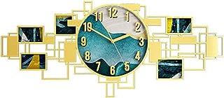 ساعة الحائط المعدنية الكبيرة الحديثة الإبداعية النمط الشمال والضوضاء كوارتز ساعة مع بطارية الأرقام العربية