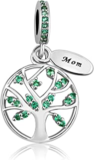 New Family Tree of Life Dangle Charm Bead for Bracelet Pendant