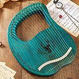 WellingA 16 Cordes Métalliques Lyre Harpe Acajou Lye Harpe avec Clé de Réglage Ramasser de Noël pour Les Mélomanes,004
