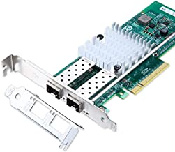 10Gb Ethernet Network Adapter Card- for Intel 82599ES Controller X520-DA2 Network Interface Card (NIC) PCI Express X8, Dual SFP+ Port Fiber Server Adapter