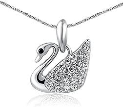AROUND 101 Swan Swarovski Elements AAA Zircon Austrian Crystal Pendant Necklace