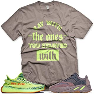 New Brown STARVED T Shirt for Adidas Yeezy Boost 700 Mauve 350 Semi Frozen