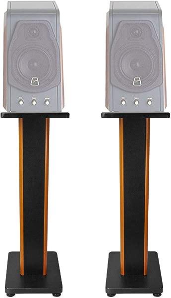 ROCKVILLE Pair 28 2 Tone Speaker Stands For Swan M200MKII Bookshelf Speakers