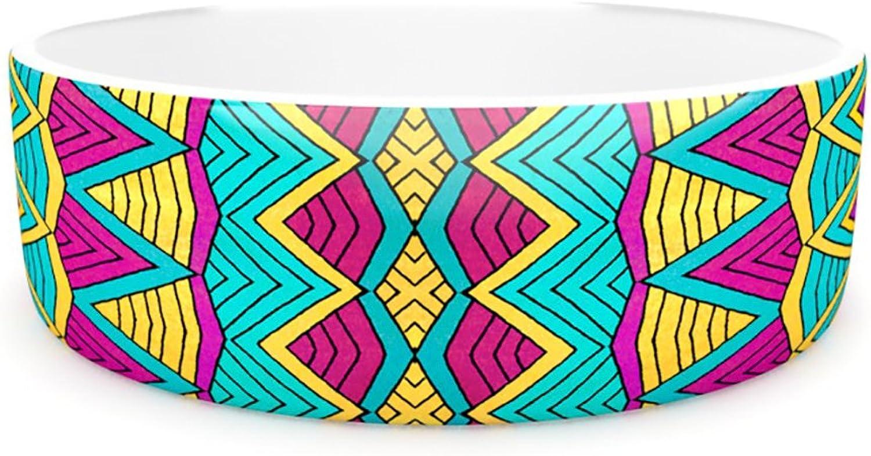 Kess InHouse Pom Graphic Design Tribal Soul II  Pet Bowl, 7Inch