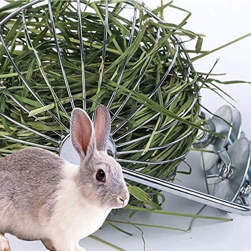 Comedero de heno de Guinea Pig, comedero de heno de conejo, colgante de esfera, dispensador de heno de hierba, cesta de alimentación para conejo, chinchilla, cobaya