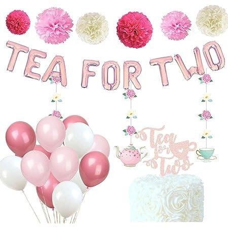 Tea Party Birthday Party Decor Tea for Two Birthday Balloons Princess ParTea Party Decorations Kids Birthday Decor Tea Birthday Balloon
