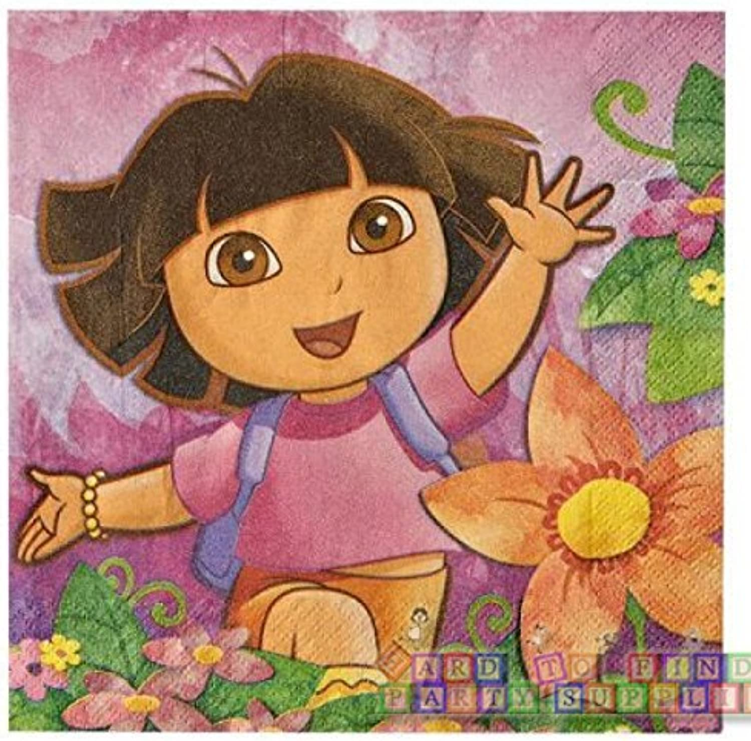 Dora the Explorer 'Floral' Lunch Napkins (16ct)