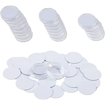 AuFreedo 25 Pcs Ntag215 NFC Tags 1 inch(25mm),25 Pcs Protective Cases