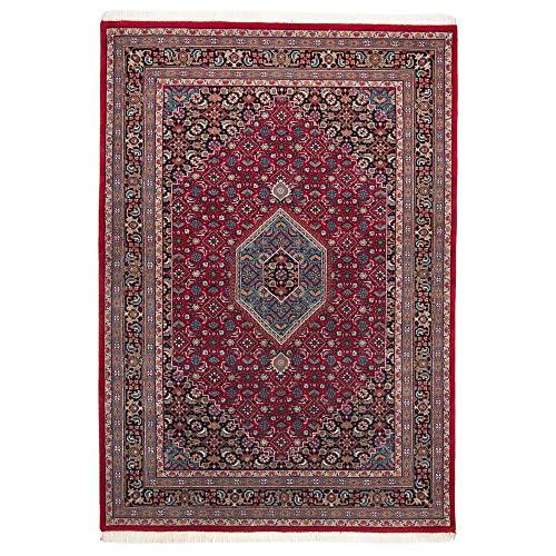 Benares   Bidjar   Teppich aus 100% Schurwolle   handgeknüpft   Größe: 200 x 300 cm   Farbe: Rot   THEKO