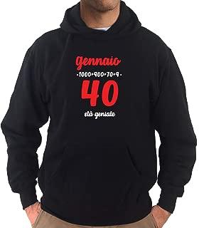 Settantallora - Camiseta para niño J3877 Dicembre, 40 años ...