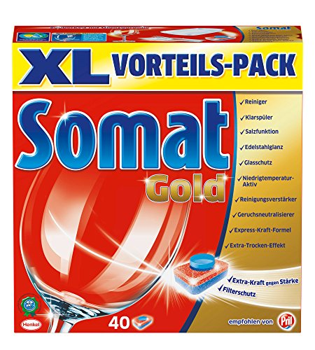 Somat Tabs Gold, XL, 1er Pack (1 x 40 Tabs)