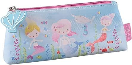 Mermaid Under The Sea Creatures 9 x 4 inch Vinyl Zip Top Pencil Case Pouch