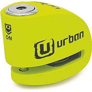 Urban Security UR906Y Candado Antirrobo Moto Disco Alarma 120 dB, Eje 6 mm Universal, Amarillo