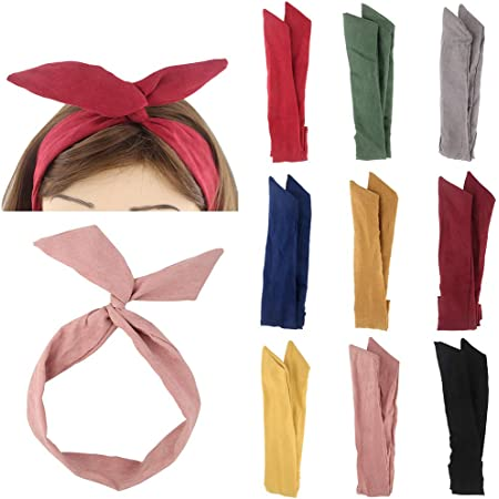Details about  /Simple Hair Ribbon Head Tied Bow Hoop Sweet Lovely Knittting Hair Band S