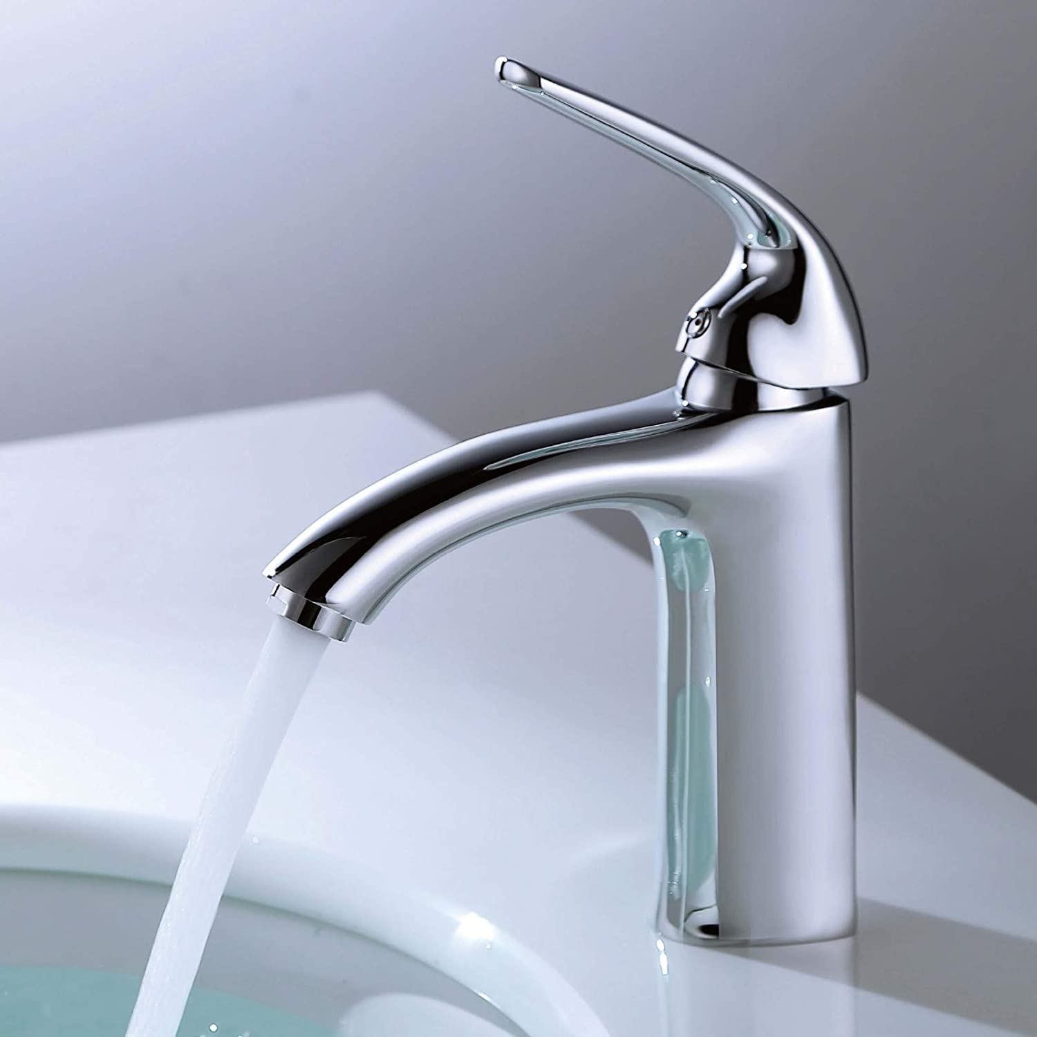 redOOY Taps Single Handle Basin Faucet Hot And Cold Above Counter Basin Faucet