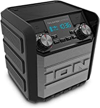 ION Audio Tailgater Express | Compact Water-Resistant Wireless Speaker System with AM/FM..