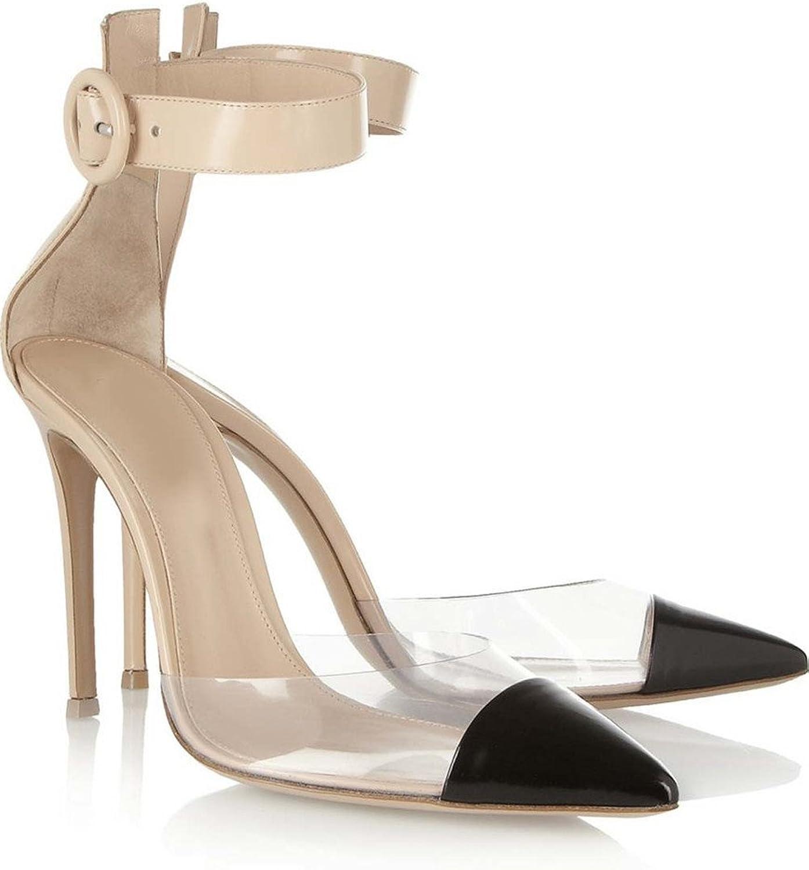 CCBubble High Heels Clear Sandals Women Ankle Strap Transparent Women Sandals