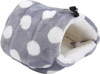 Pssopp - Cuccia Invernale per criceti, in Calda Flanella, per Piccoli Animali Domestici, scoiattoli, Zucchero aliante, por...