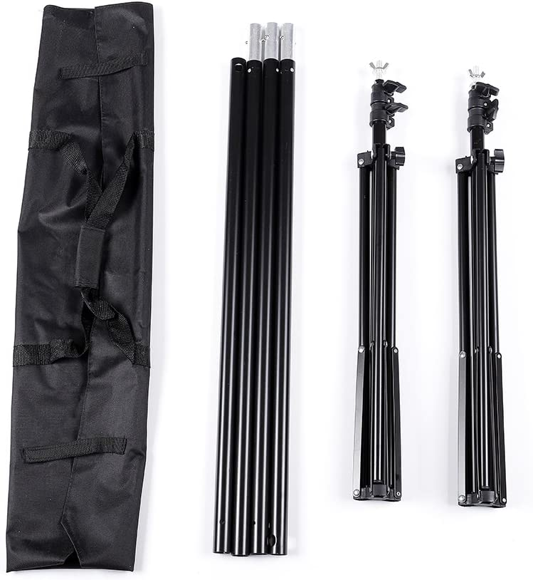 Kshioe 2x3m//6.5x9.8ft Photo Video Studio Adjustable Background Backdrop Support System Stand with Carry Bag