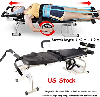 Traction Bed, KPfaster Health Care Therapy Massage Bed Improve Posture Cervical Lumbar Traction Bed Spine Traction Lumbar Cervical Massage Stretching Body Therapy Device
